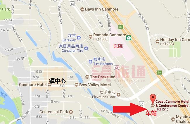 coast canmore酒店位置.jpg